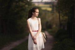 Young beautiful girl with long hair Stock Photos