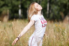 Young beautiful girl in love Stock Image