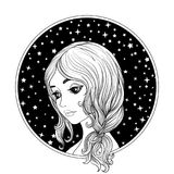 A young beautiful girl. royalty free illustration