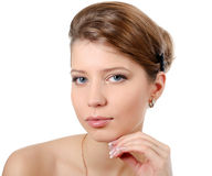 The young beautiful girl with a natural make-up Stock Image