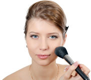 The young beautiful girl with a natural make-up Stock Photography