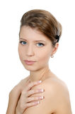 The young beautiful girl with a natural make-up Royalty Free Stock Photo