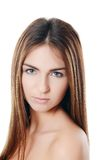 The beautiful girl with natural make-up Royalty Free Stock Photos