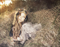 Young beautiful girl in the nature Stock Photos
