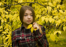Young beautiful girl in the nature Stock Photography