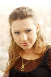 The young beautiful girl on open air. The beautiful girl on open air Royalty Free Stock Photography