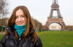 Young beautiful girl in Paris Royalty Free Stock Image