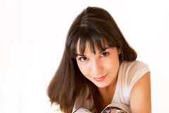 Young beautiful girl portrait Stock Photos