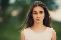 Young beautiful girl portrait Stock Photography