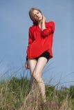 Young beautiful girl portrait. Young beautiful model portrait.  Outdoor shoot Stock Photo