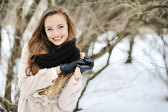 Young beautiful girl portrait - outdoor Royalty Free Stock Photography
