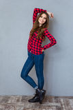 Young beautiful girl posing and smiling Stock Photo
