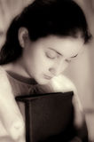 Young and beautiful girl  praying Stock Photos