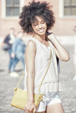 Young beautiful girl with shopping bags. Stock Photos