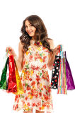 Young beautiful girl with shopping bags Royalty Free Stock Images