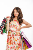 Young beautiful girl with shopping bags  Royalty Free Stock Image