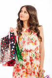 Young beautiful girl with shopping bags  Stock Photos