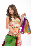 Young beautiful girl with shopping bags Stock Photo