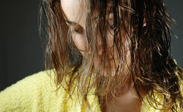 Young and beautiful girl after shower #2 Royalty Free Stock Photos