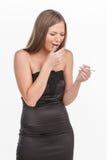 Young beautiful girl smoking cigarette. Royalty Free Stock Photo