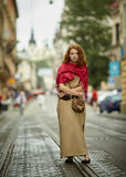 Young beautiful girl on the street Royalty Free Stock Photography