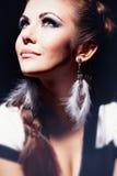 Young beautiful girl in studio Stock Photo