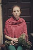 Young beautiful girl urban portrait Royalty Free Stock Photos