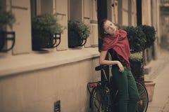 Young beautiful girl urban portrait Stock Image