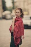 Young beautiful girl urban portrait Royalty Free Stock Photo