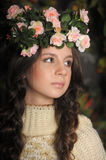 Young beautiful girl with a wreath Stock Photos