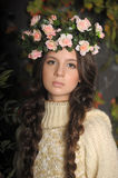 Young beautiful girl with a wreath Royalty Free Stock Photography