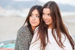 Young beautiful girlfriends portrait Royalty Free Stock Photos