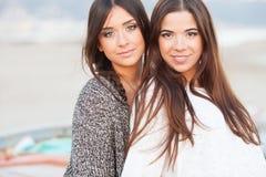 Young beautiful girlfriends portrait Stock Image