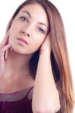 Young Beautiful Glamour Woman Headshot Portrait Royalty Free Stock Photography