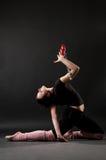 Young beautiful gymnast Stock Image