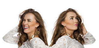 Young beautiful haired women Royalty Free Stock Photography