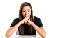 Young beautiful happy Asian Indian teenager Royalty Free Stock Photography