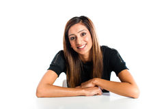 Young beautiful happy Asian Indian teenager. Posing in studio Royalty Free Stock Photo