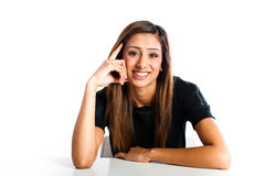 Young beautiful happy Asian Indian teenager Stock Images