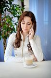 Young beautiful happy businesswoman talking on the phone Stock Images