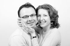 Young Beautiful Happy Couple Smiling Royalty Free Stock Photos