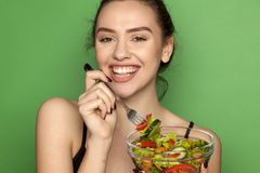 Healthy food - salads Stock Photos