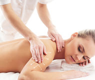 A young, beautiful and healthy woman getting spa treatment Stock Photography