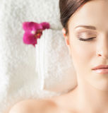 Young, beautiful and healthy woman in a spa salon Stock Photography
