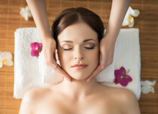 Young, beautiful and healthy woman in a spa salon Stock Photo