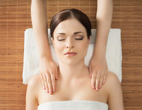 Young, beautiful and healthy woman in spa salon Royalty Free Stock Images