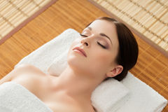 Young, beautiful and healthy woman in spa salon Royalty Free Stock Photography