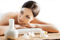 Young, beautiful and healthy woman in spa salon Royalty Free Stock Photos