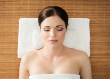 Young, beautiful and healthy woman in spa salon Stock Images