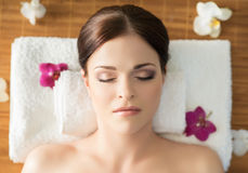 Young, beautiful and healthy woman in spa Royalty Free Stock Photo